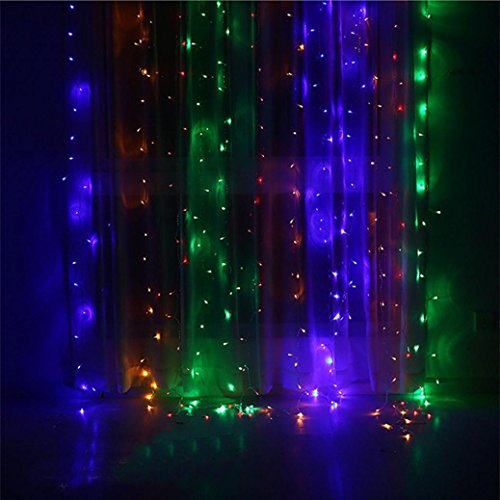 Dacawin Led Curtain Lights Party Wedding Fairy Indoor Outdoor Christmas Garden (Multicolor) from Dacawin