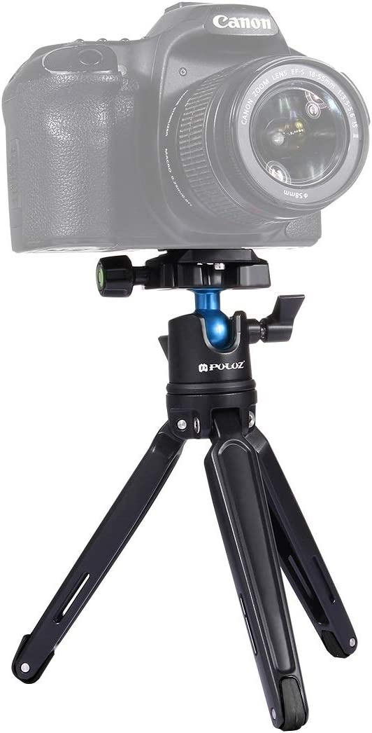 Color : Color1 11-21cm Adjustable Height Camera Tripod Mini Tripod Pocket Mini Metal Desktop Tripod Mount with 360 Degree Ball Head for DSLR /& Digital Cameras