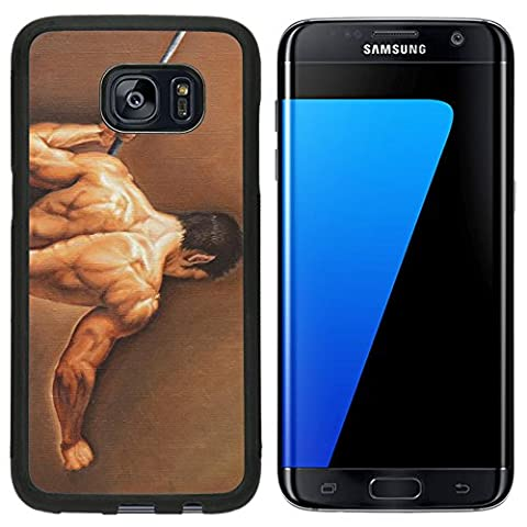 Luxlady Premium Samsung Galaxy S7 Edge Aluminum Backplate Bumper Snap Case IMAGE ID: 24694614 young man with a (Aluminum Painters Easel)