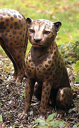 Guepardo, Cheetah sentado, bronce: Amazon.es: Jardín