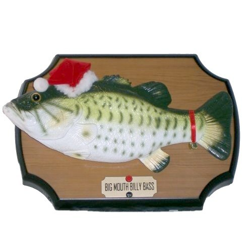 Billy Big Mouth Bass Sings for the Holidays Motion Activated Twas the Night Before Christmas by Gemmy (Image #1)