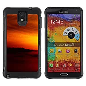 LASTONE PHONE CASE / Suave Silicona Caso Carcasa de Caucho Funda para Samsung Note 3 / Sunset Beautiful Nature 79