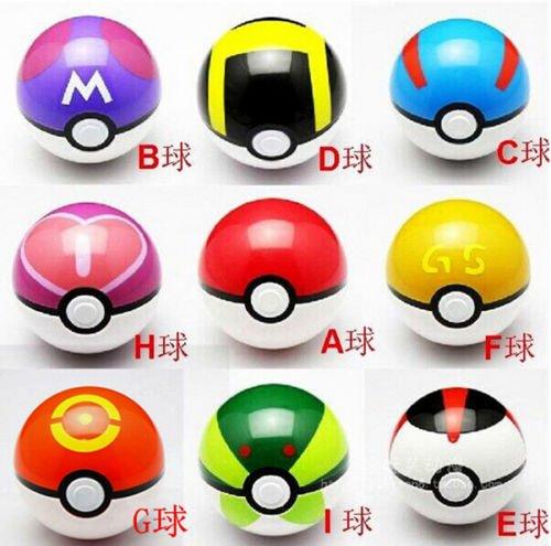 9PCS Pokemon pikachu Pokeball Cosplay Pop-up Master Great Ultra GS poke BALL (Pikachu Headband And Tail)