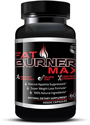 Fat Burner Max – Natural Appetite Suppressant & Muscle Preserving Diet Pills For Men & Women – Weight Loss Supplements That Work With Garcinia Cambogia, Glucomannan & Caralluma (60 Veggie Capsules)