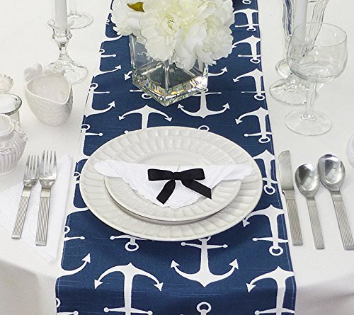 Appleberry Attic Anchors Table Runner Collection (Blue) Handmade in USA
