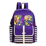 Fashion Printed Backpack Color Embellishment School Bag