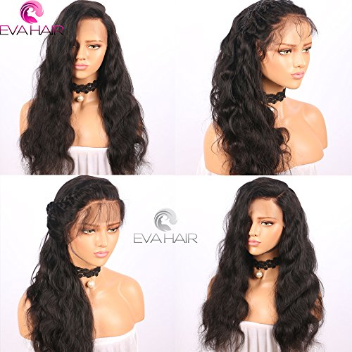 13x6 Lace Front Human Hair Wigs for Black Women Pre plucked Brazilian Virgin Hair 150 density Lace Front Wig Glueless Body Wave Front Lace Wigs with Baby Hair (14 Inch,150 density,13x6 Lace Front Wig) by EVA HAIR (Image #4)