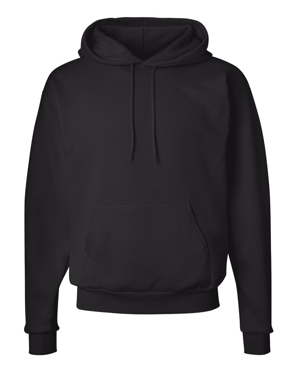 Hanes Men's Pullover EcoSmart Fleece Hoodie, Black, X-Large by Hanes (Image #2)