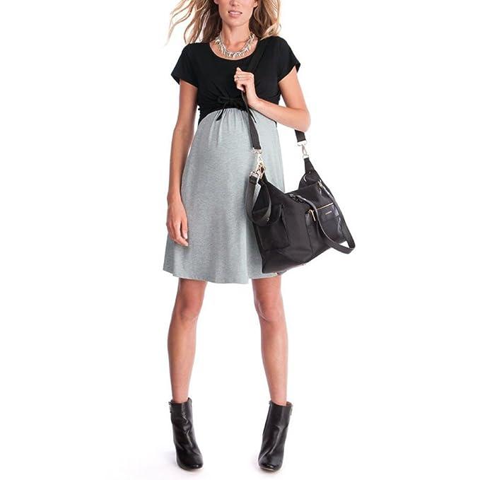 best website 51ba9 3754d Mambain Abito Gravidanza Elegante, Vestito Premaman Estate Abito Incinta  Allattamento Prenatal Abbigliamento prémaman Donna Allatta Allattare  Vestiti ...