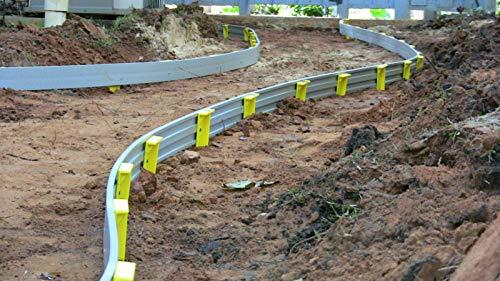 FlexiFORM Plastic Flexible Concrete Sidewalk Pools Flatwork Curves Forms-50