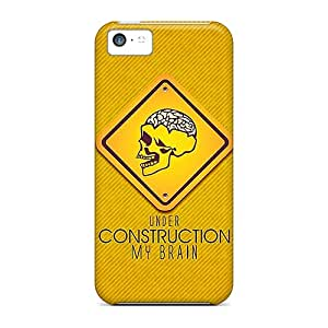 UwhLuot6660Ukkkv Case Cover, Fashionable Iphone 5c Case - Brain Under Construction