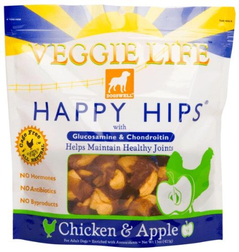 Dogswell Happy Hips Veggie Life Chicken and Apple Dog Chew Treats, My Pet Supplies