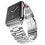 hermes belt blue - Apple Watch Band, HANYI Luxury Stainless Steel Watch Band Replacement Strap for Apple I Watch Series 3 (42 MM, Silver Stainless Steel)