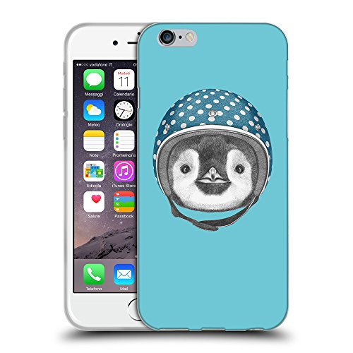 GoGoMobile Coque de Protection TPU Silicone Case pour // Q05320627 Casque pingouin Cyan // Apple iPhone 7