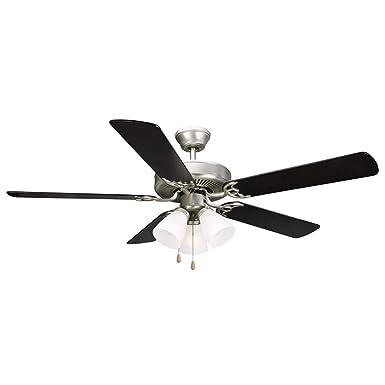 Design House 153957 Millbridge 3 Light Ceiling Fan 52 , Satin Nickel