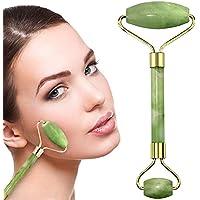 Rodillo Masajeador Facial de jade,CoWalkers Masajeador facial para la piel con doble masaje natural de jade Cara y cuello,Antienvejecimiento Piedra Real Natural de Jade Premium