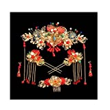 Chinese Ancient Bridal Hair Ornaments Wedding Hair Styling Earrings Sets Accessories Hairpin, #09