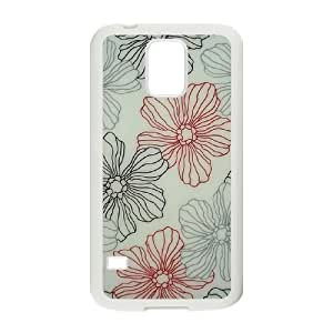 Pink Floral Original New Print DIY Phone Case for SamSung Galaxy S5 I9600,personalized case cover ygtg569986