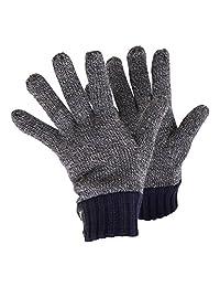 Mens Heatguard Winter Gloves (1 Pair) (M/L) (Navy)