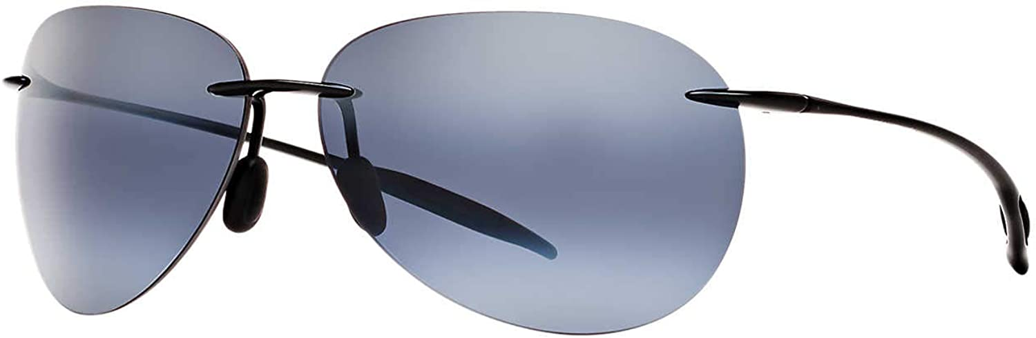 Maui Jim Sunglasses Sugar Beach H421 Rimless Frame, Polarized Lenses, with Patented PolarizedPlus2 Lens Technology