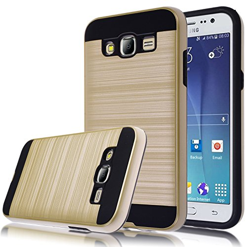 Slim Armor TPU Case for Samsung Galaxy J5 (Gold) - 3