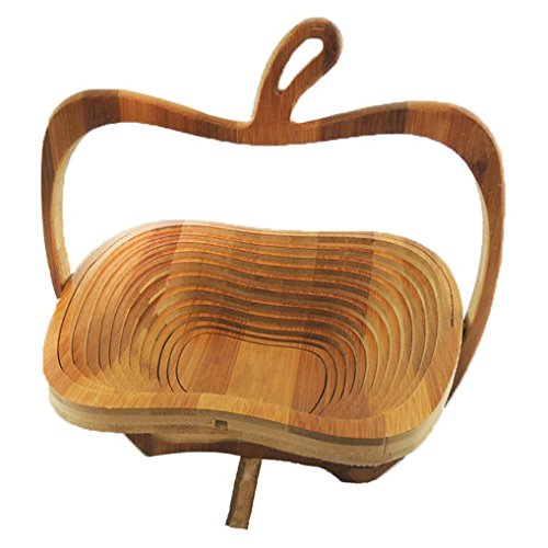 Foldable Basket / Basket in Bamboo in Form of Apple for Fruits