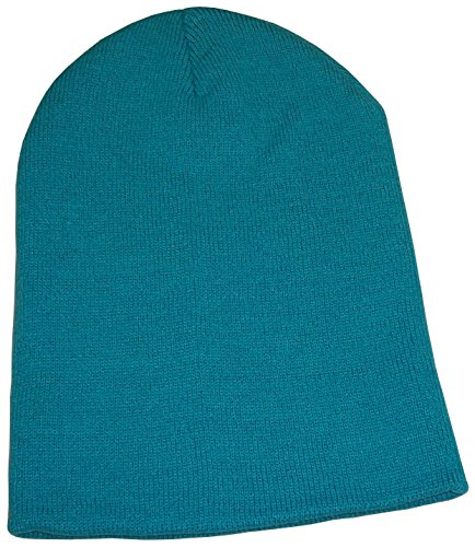 N'Ice Caps Unisex Kids Bulky Double Layered Knitted Beanie Hat (4-12yrs, Neon Blue)