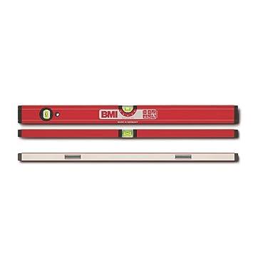 BMI 689080R-S//45 Alu-Guss-Wasserwaage 80 cm mit 3 Libellen in rot