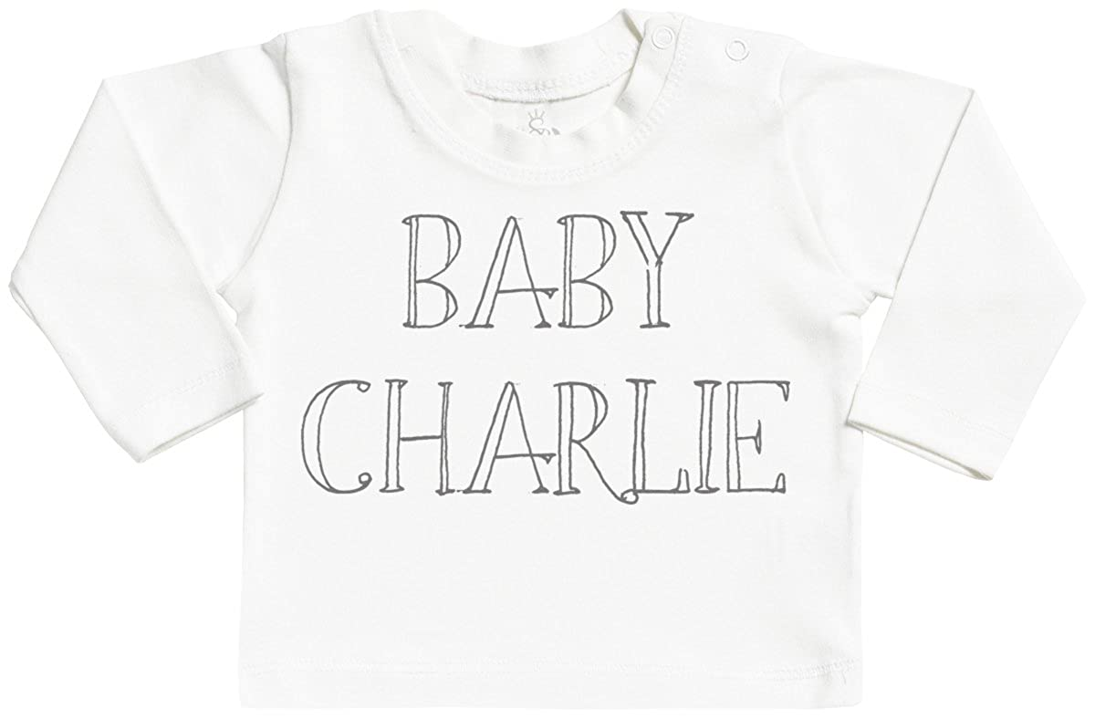 Personalised Baby Name Long Sleeve Baby T-Shirt Top SR