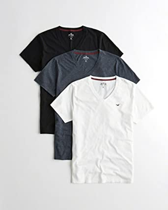 c5e24ec9e46 Hollister Men Must-Have V-Neck T-Shirt 3-Pack