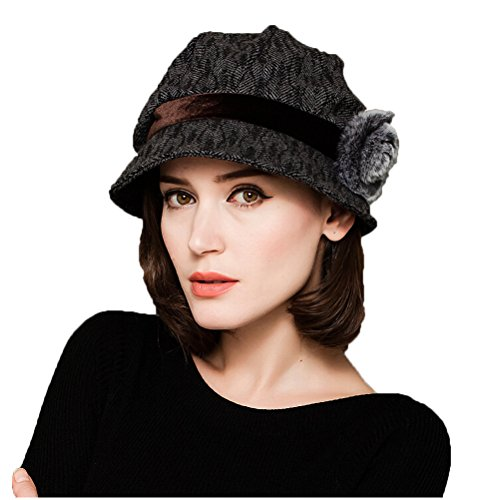 "Maitoseâ""¢ Women's Wool Felt Bowler Hat Gray"