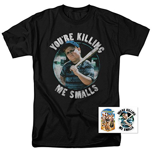 Popfunk The Sandlot You're Killing Me Smalls Black T Shirt & Exclusive Stickers (Large) Black