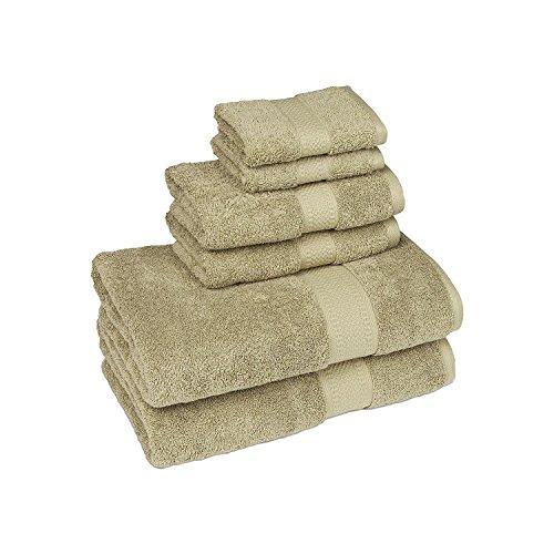 Organic 6-Piece Bath Towel Set (Sage)