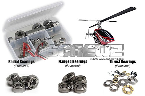 RC Screwz Metal Shielded Bearing Kit for Thunder Tiger G4 Electric ()