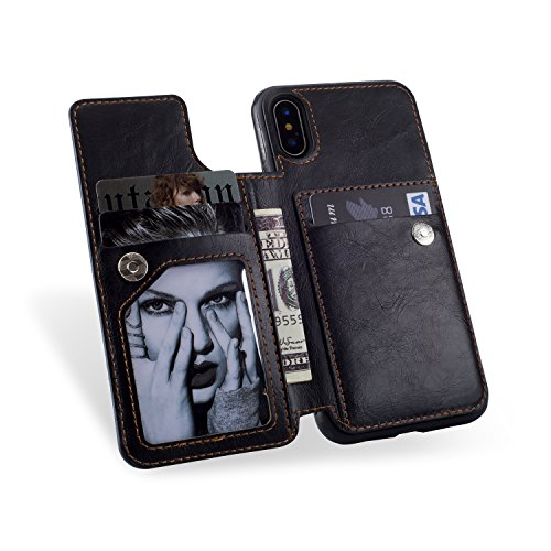 1 piece Plumgal Multi-function Phone Case For iPhone 8 Plus Cover With Card Pocket Wallet Case For iPhone X 6 6S 6Plus 6SPlus 7 8 7Plus