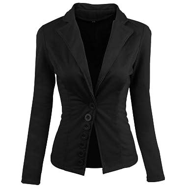 4370a8a08535 UONQD 2019d Women Coat Casual Slim Suit Blazer Top Ladies Jacket Outwear  Tops (Small,