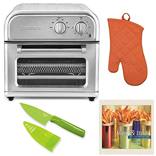 - Cuisinart AFR-25 Air Fryer, Silver Includes Oven Mitt, Mini Knife and Cookbook