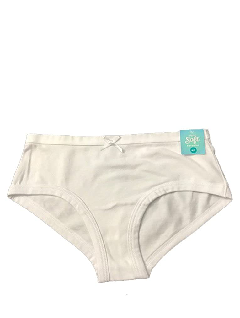 Justice Girls Cotton Boyshort Panty White