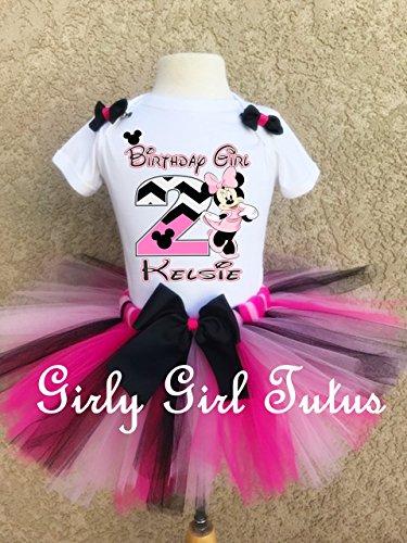 Minnie Mouse Birthday Girl Tutu Outfit Set by Girli Girl Tutus