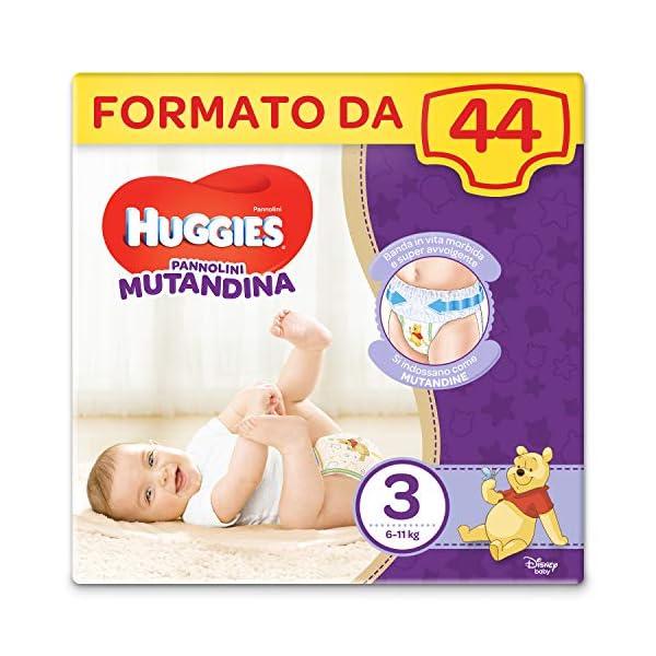 HUGGIES Pannolino Mutandina, Taglia 3 (6-11 Kg), Confezione da 44 Pezzi 1