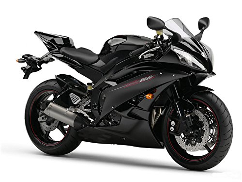 Black Abs Injection (Glossy Black ABS Injection Plastic Bodywork Fairing Fit for Yamaha 2006 2007 YZF R6)