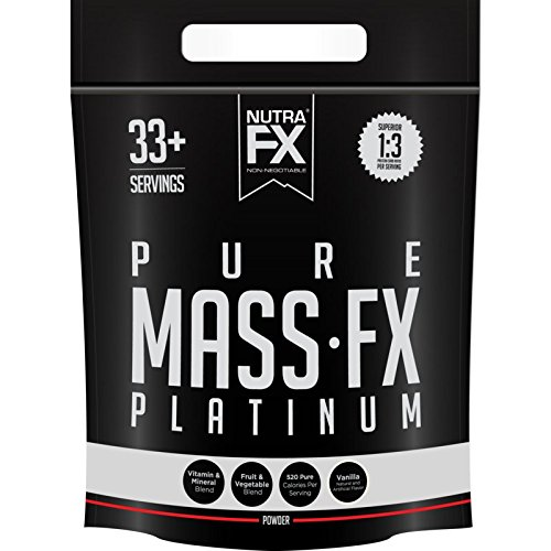 NUTRAFX Mass Gainer 10lb Delicious Vanilla Flavor Made From Pure Whey Protein Powder 520 Calories Per Serving Carbohydrates Source from Fruit and Vegetable 3:1 Protein to Carb Ratio