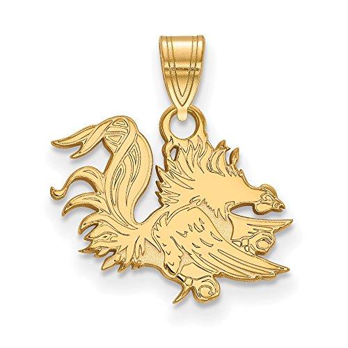 South Carolina Small (1/2 Inch) Pendant (14k Yellow Gold) by LogoArt
