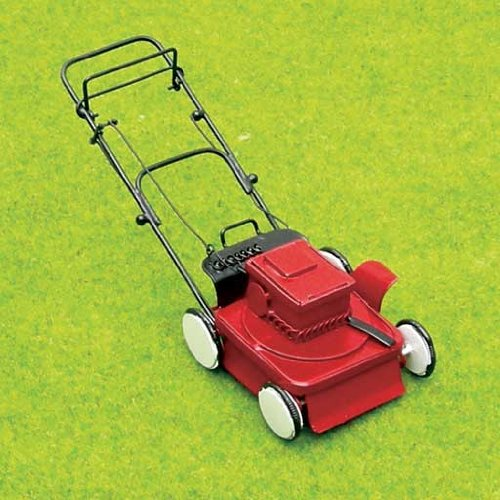 Aztec Imports, Inc. Dollhouse Miniature Modern Power Lawnmower (Diecast Lawn Mower)