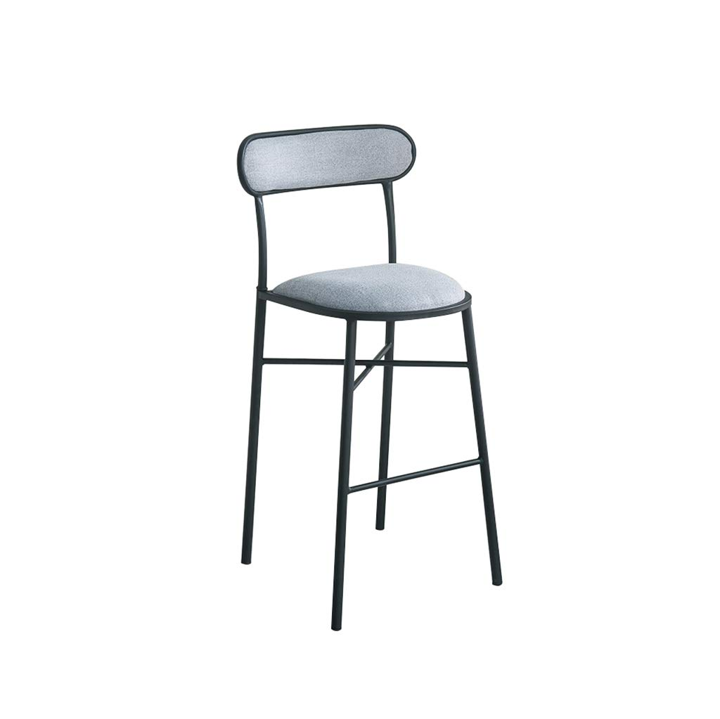 E H-65CM A-Fort Nordic New Bar Stool Wrought Iron Bar Chair gold Home High Stool Modern Dining Chai Bar Stool,Creative Chair (color   A, Size   H-75CM)