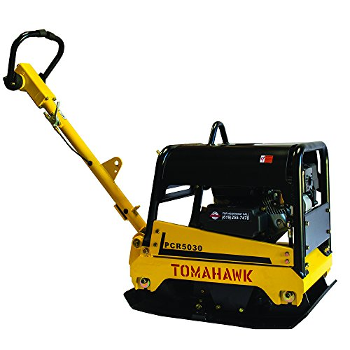 Tomahawk Power 6.5 HP Reverse Plate Compactor Honda Engine Hydraulic Walk Behind Vibratory Dirt Soil Plate Compactor