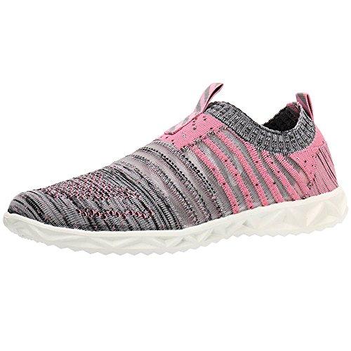 ALEADER Women's Mesh Slip on Water Shoes Pink/Gray