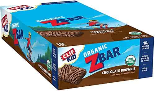 Clif Kid ZBAR - Organic Granola Bars - Chocolate Brownie - (1.27 Ounce Energy Bars, Kids Snacks, 18 Count)