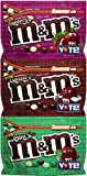 espresso candies - Variety Mix M&M's Chocolate Candy (3 Pack) Flavor Vote Crunchy Espresso, Raspberry, Mint Sharing Size, 8 Ounce Bags