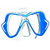 Mares X-Vision Liquidskin 13 Scuba and Snorkeling Mask, Clear/Blue
